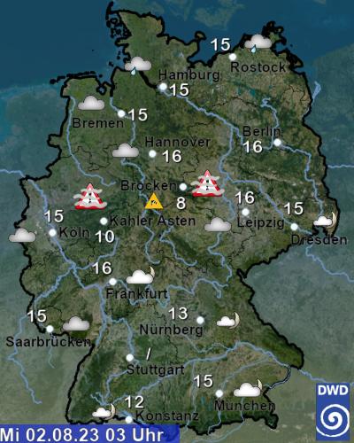 Wetterwarnungen Deutschland Aktuell