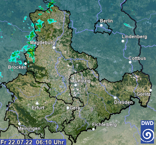 aktuelles Radarbild Sachsen