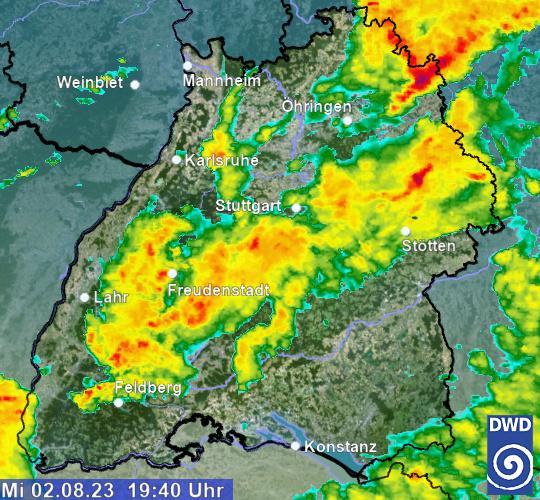 Wetter Radar Südwest