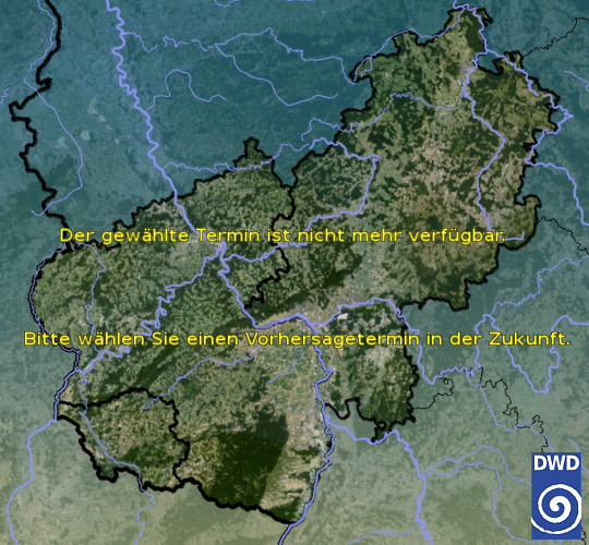Vorhersage für heute früh mit Tiefsttemperatur und Wetter für Region Mitte