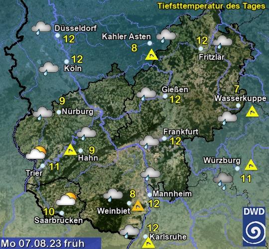 Aktueller Regenradar Hessen