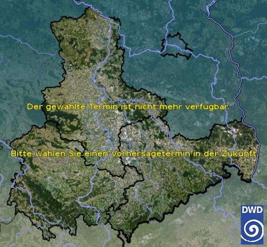 Vorhersage für heute früh mit Tiefsttemperatur und Wetter für Region Ost