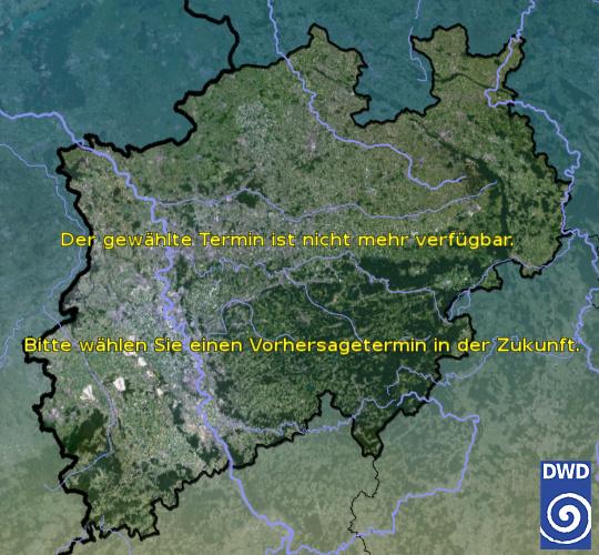 Vorhersage für heute früh mit Tiefsttemperatur und Wetter für Region West